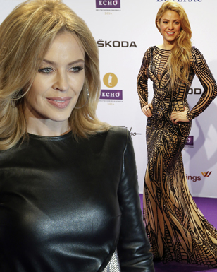 Colombian singer Shakira arrives on the red carpet for the Echo Music Awards ceremony in Berlin