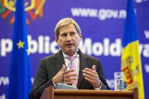 EU Commisioner Hahn visits Moldova