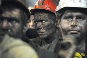 TOPSHOTSCoal miners leave the Zasyadko