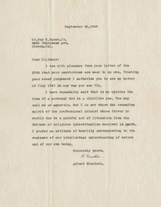 Einstein's Letters
