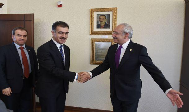 Kemal Kilicdaroglu, Kuzey Irak'tan gelen KDP heyeti ile gorustu