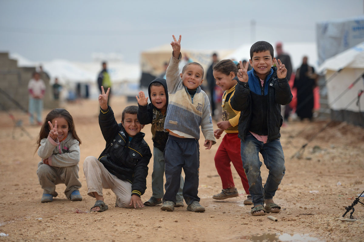 Thousands Of Syrian Refugees Seek Shelter In Makeshift Camps In Jordan