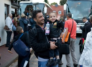 Syrian refugees arrive in Friedland