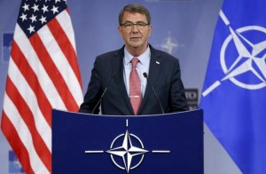 U.S. Defense Secretary Carter addresses a news conference during a NATO defence ministers meeting in Brussels