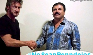 "Undated Rolling Stone handout shows actor Sean Penn shaking hands with Mexican drug lord Joaquin ""Chapo"" Guzman in Mexico"